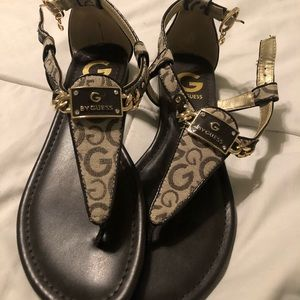 Brand new never worn Guess sandals